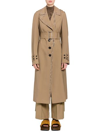 Marni Coat in tropical wool with hanging threads Woman