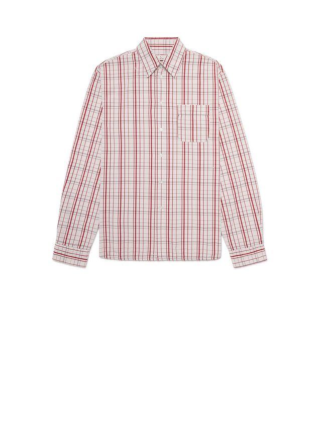 Marni Poplin Shirt with fringed stitching Man - 2