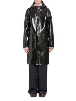 Marni Stutterheim for Marni raincoat in glossy rubberized cotton Man