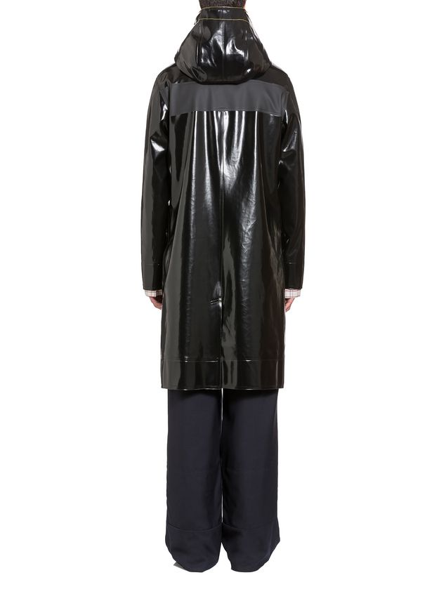 Marni Stutterheim for Marni raincoat in glossy rubberized cotton Man