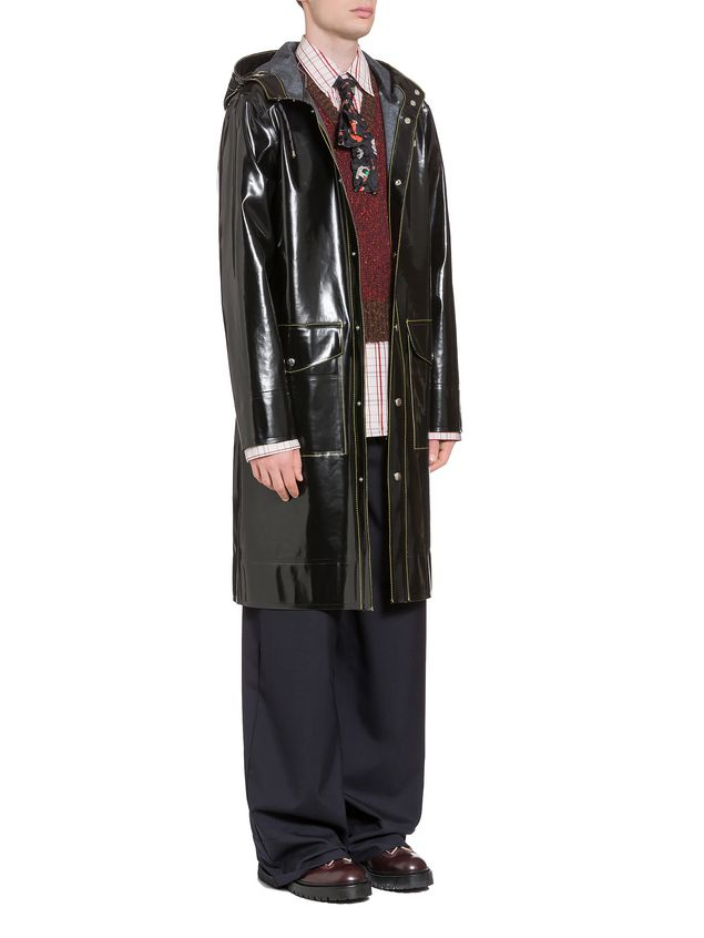 Marni Stutterheim for Marni raincoat in glossy rubberized cotton Man - 4