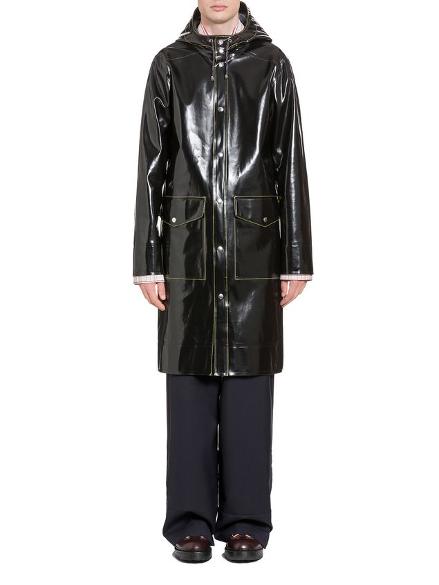 Marni Stutterheim for Marni raincoat in glossy rubberized cotton Man - 1