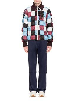 Marni Bomber in ultralight nylon with Jagged print Man