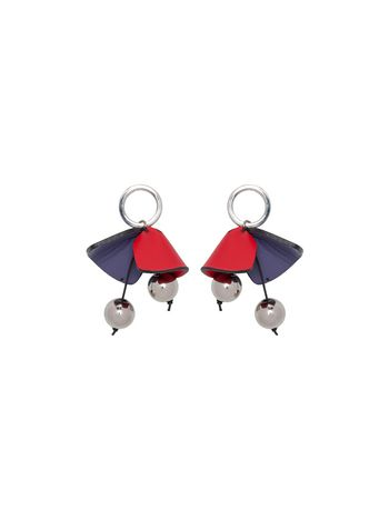 Marni Screw back earrings in leather Woman