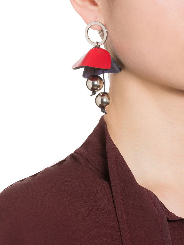 Marni Screw back earrings in leather Woman - 2