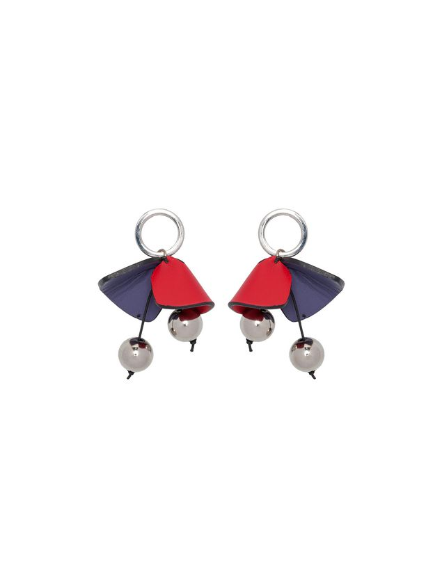 Marni Screw back earrings in leather Woman - 1