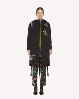 REDValentino Enchanted Reptiles and Birds embroidered Gabardine peacoat