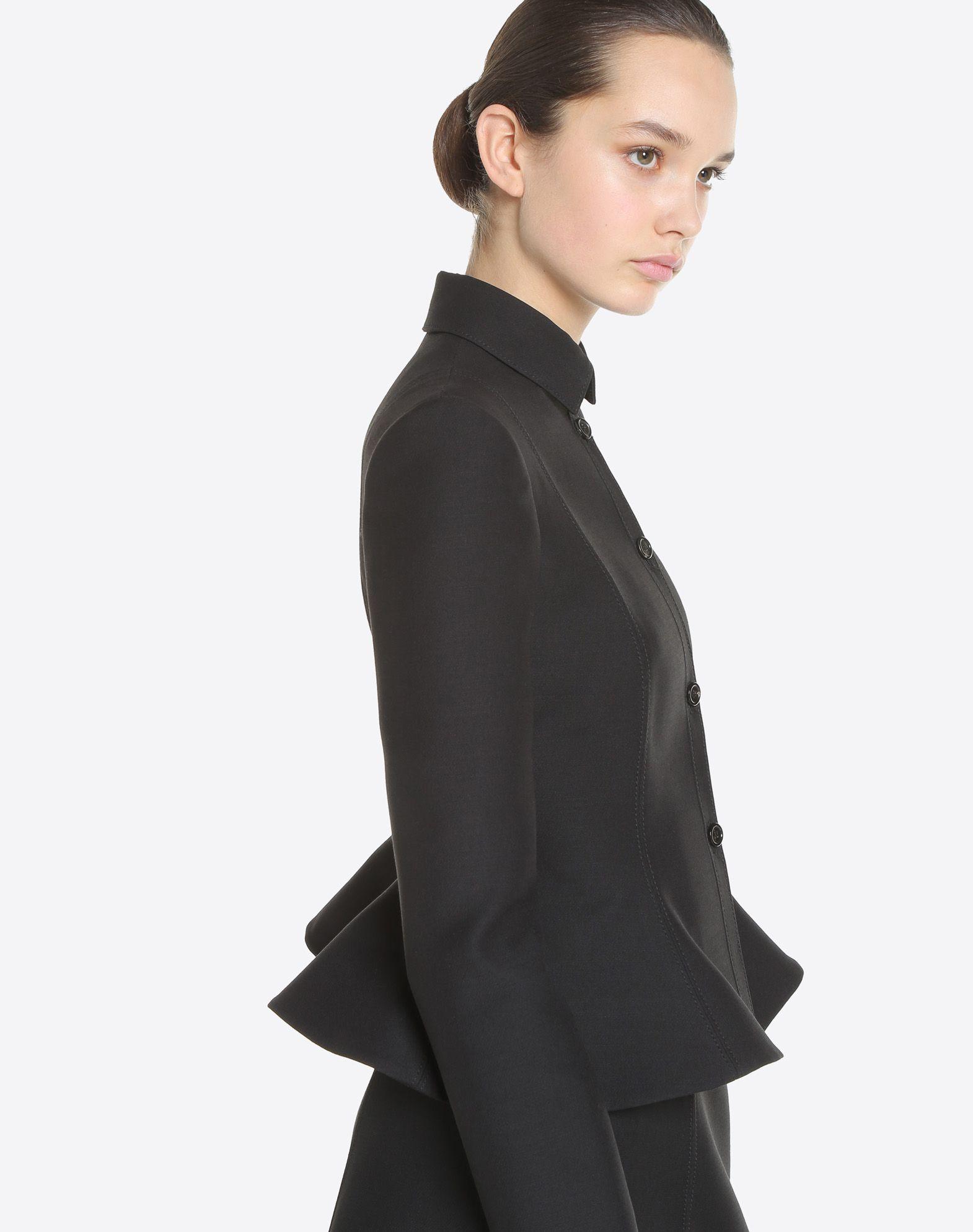 VALENTINO Couture 绉绸夹克 夹克 D a