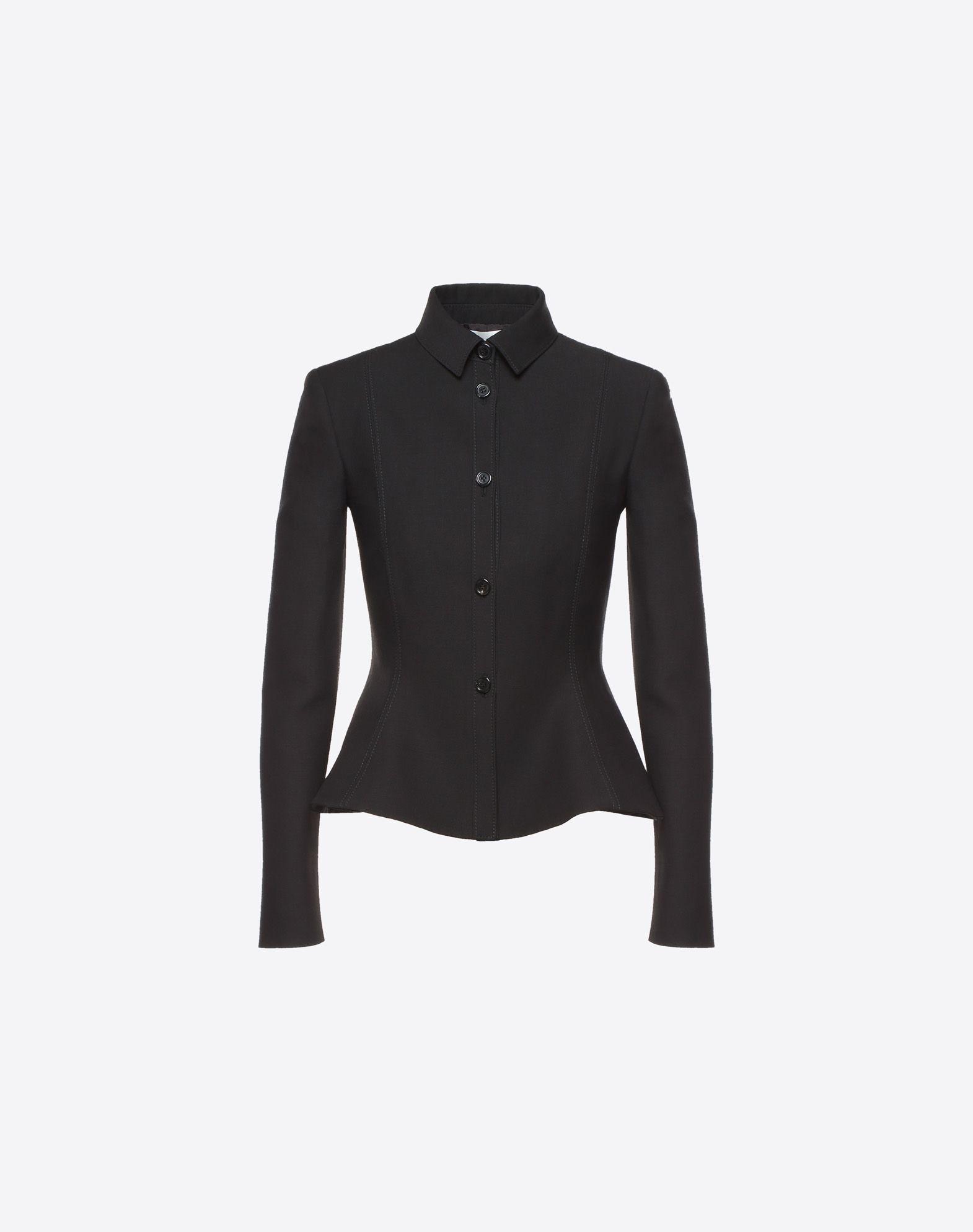 VALENTINO Couture 绉绸夹克 夹克 D f