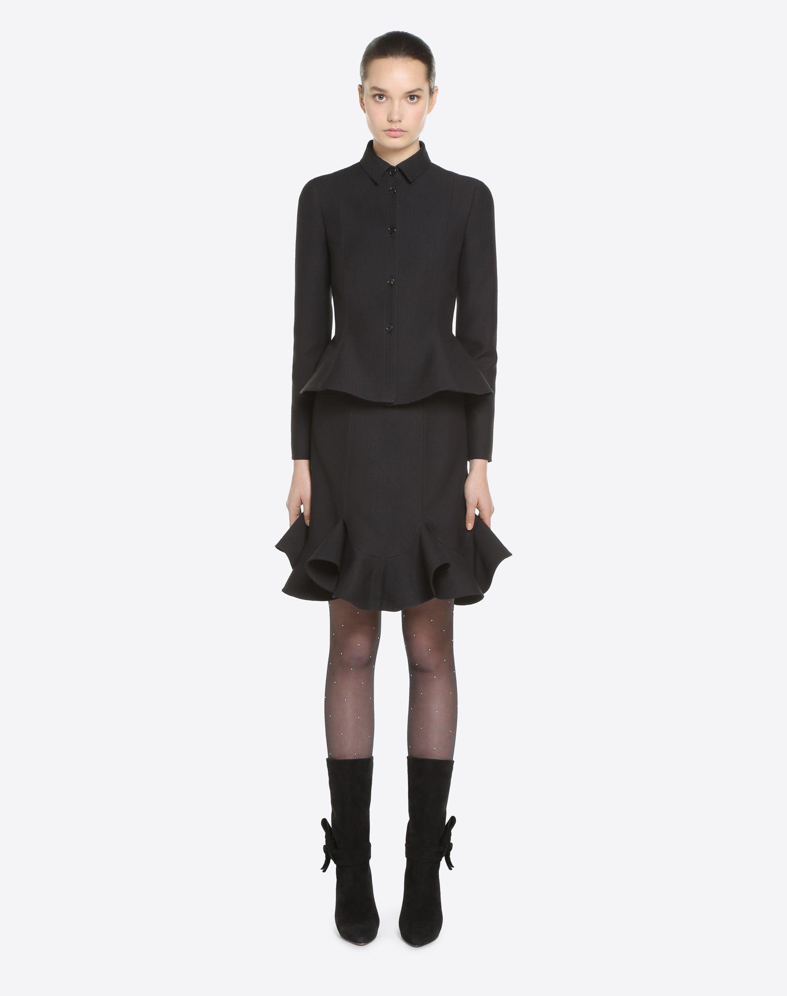 VALENTINO Couture 绉绸夹克 夹克 D r