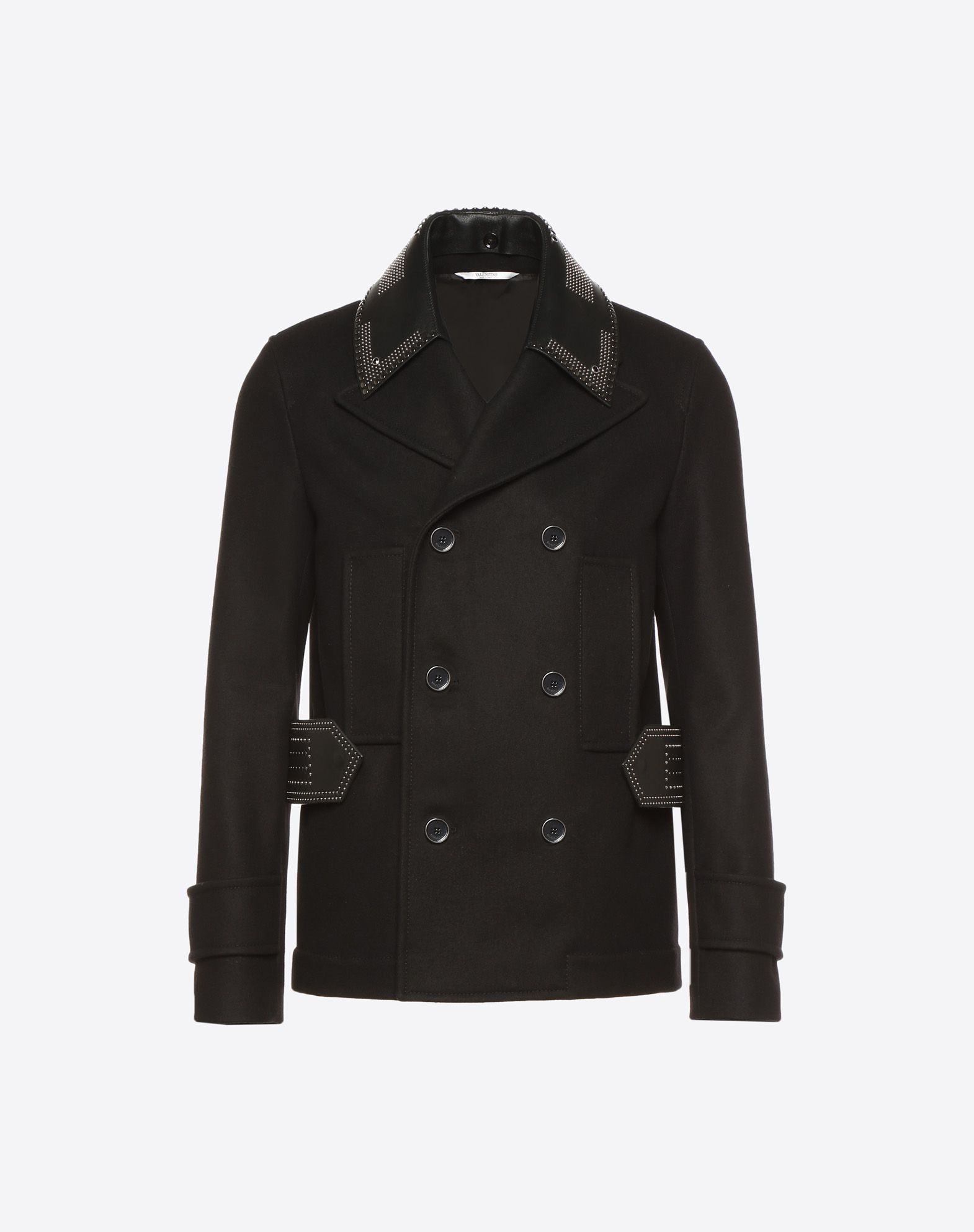 VALENTINO UOMO Double-breasted Star Punk peacoat PEA COAT U f