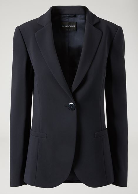 Slim fit single-breasted jacket in cady