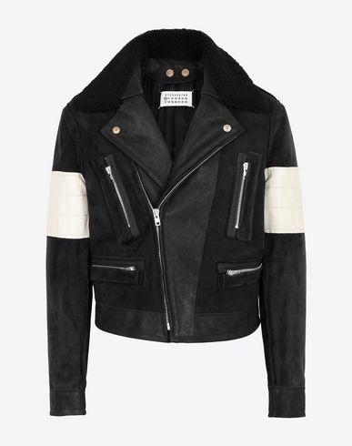 MAISON MARGIELA Jacket Man Contrasted biker jacket f