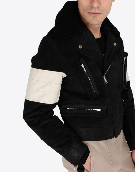 MAISON MARGIELA Contrasted biker jacket Blazer [*** pickupInStoreShippingNotGuaranteed_info ***] a