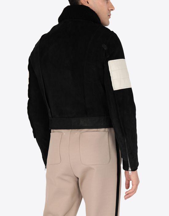 MAISON MARGIELA Contrasted biker jacket Blazer [*** pickupInStoreShippingNotGuaranteed_info ***] e