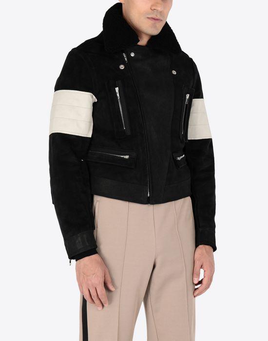 MAISON MARGIELA Contrasted biker jacket Blazer [*** pickupInStoreShippingNotGuaranteed_info ***] r