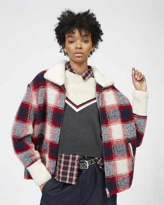 ISABEL MARANT ÉTOILE COAT Woman GIMO checked coat r