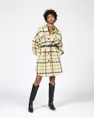 GARIO checked coat