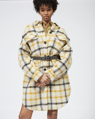 ISABEL MARANT ÉTOILE COAT Woman GARIO checked coat r