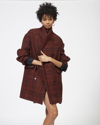 ISABEL MARANT ÉTOILE COAT Woman EBRA double breasted wool coat r