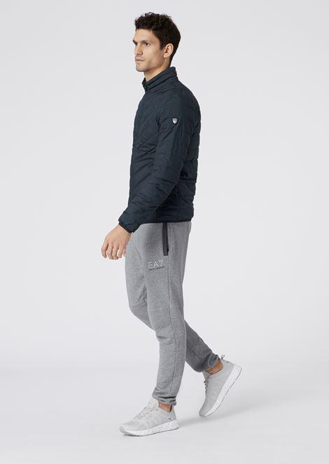 Full-zip technical fabric down jacket