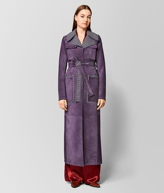 GRAPE SUEDE/WOOL COAT