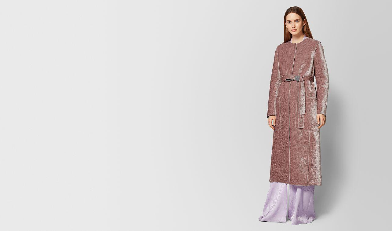 deco rose/light grey velvet/wool coat landing