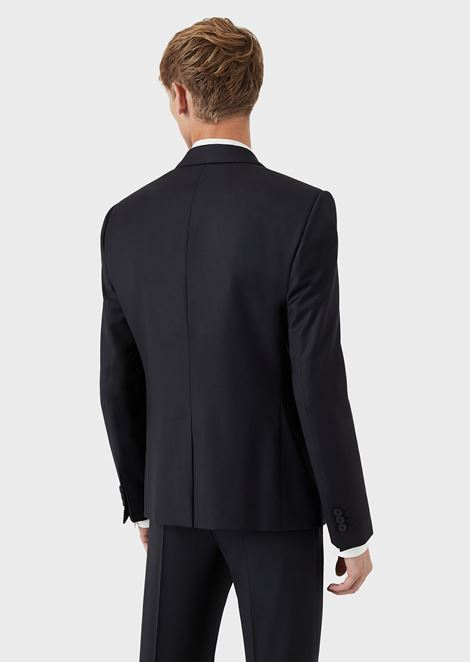 Single-Breasted Wool Jacket