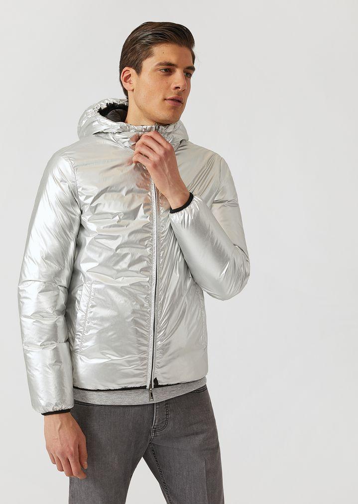 8d898ad145e9 Padded reversible laminated jacket