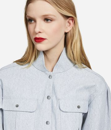 KARL LAGERFELD KARL STAND COLLAR DENIM SHIRT