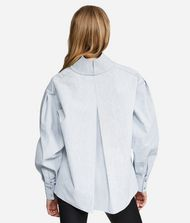 KARL LAGERFELD KARL Stand Collar Denim Shirt 9_f