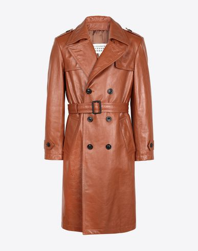 MAISON MARGIELA Raincoat Man 'Replica' leather trench f