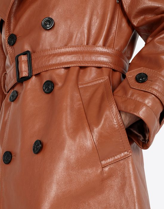 MAISON MARGIELA 'Replica' leather trench Raincoat [*** pickupInStoreShippingNotGuaranteed_info ***] a