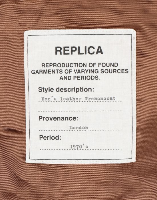 MAISON MARGIELA 'Replica' leather trench Raincoat [*** pickupInStoreShippingNotGuaranteed_info ***] b