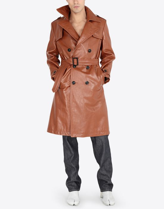 MAISON MARGIELA 'Replica' leather trench Raincoat [*** pickupInStoreShippingNotGuaranteed_info ***] d