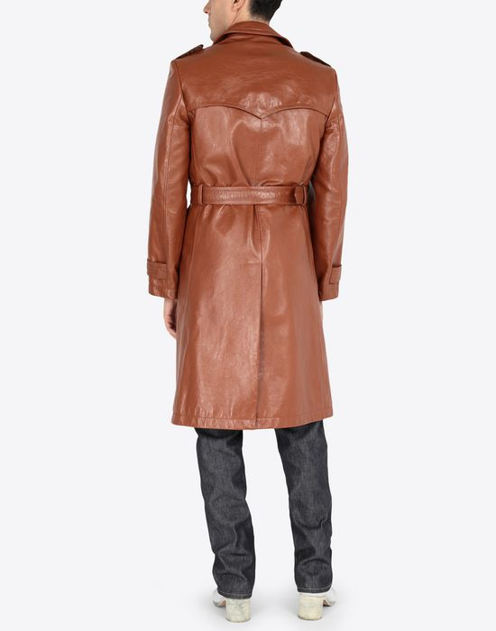MAISON MARGIELA 'Replica' leather trench Raincoat [*** pickupInStoreShippingNotGuaranteed_info ***] e