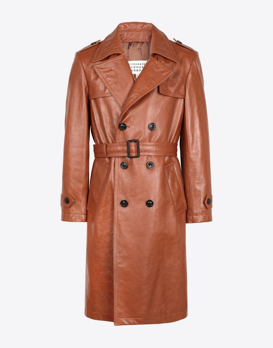 MAISON MARGIELA 'Replica' leather trench Raincoat [*** pickupInStoreShippingNotGuaranteed_info ***] f
