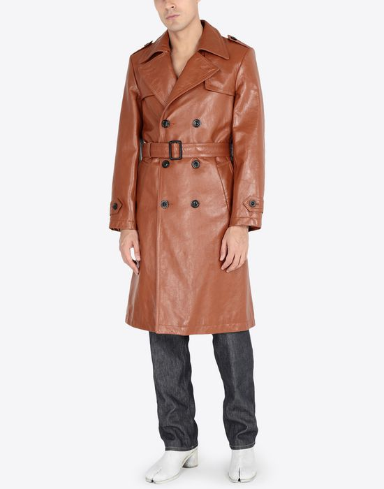 MAISON MARGIELA 'Replica' leather trench Raincoat [*** pickupInStoreShippingNotGuaranteed_info ***] r
