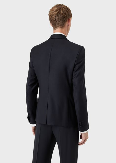 Single-Breasted Jacket in Pure Virgin Wool