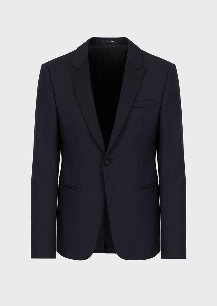 1b3ecc299db Tuxedo Jacket with Satin Lapels | Man | Emporio Armani