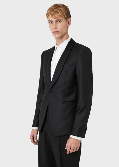 Single-breasted pure virgin wool dinner jacket