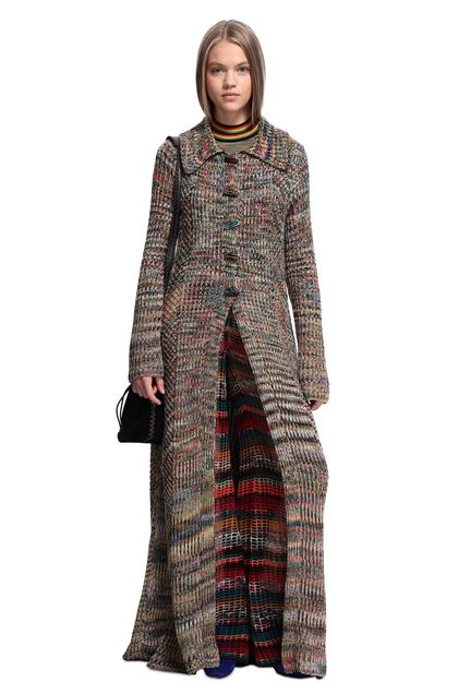 MISSONI Trench coat Khaki Woman - Back