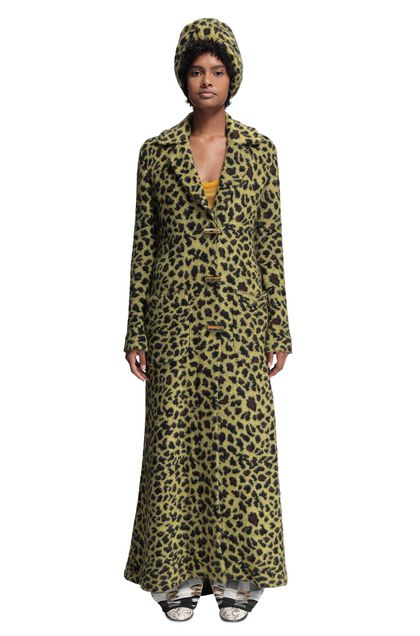 MISSONI Trench coat Acid green Woman - Back