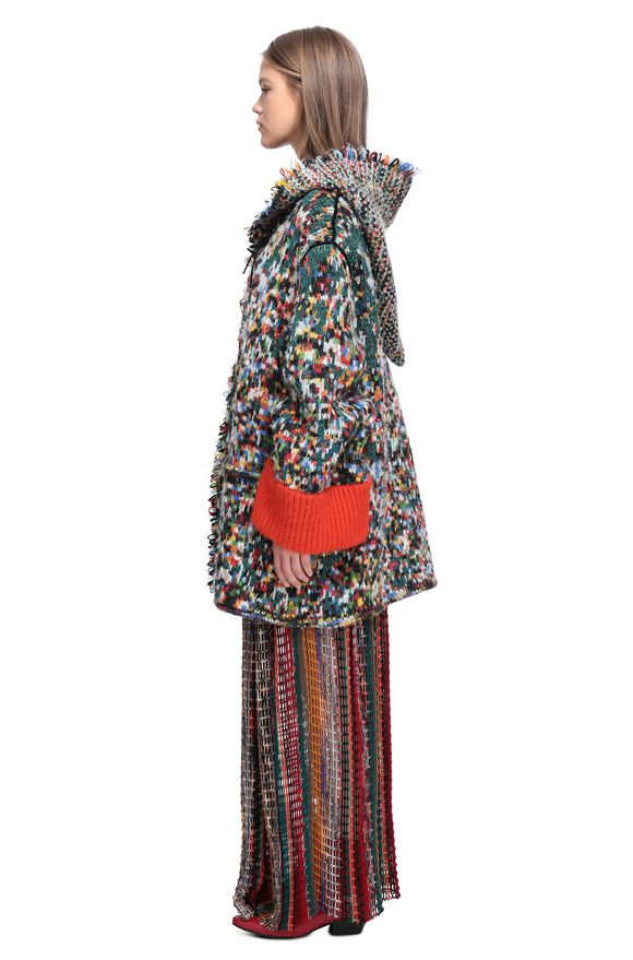 MISSONI Trench coat Woman, Side view