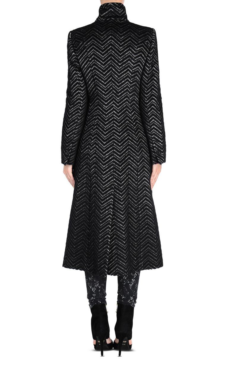 JUST CAVALLI Geometric-detail coat Coat Woman d