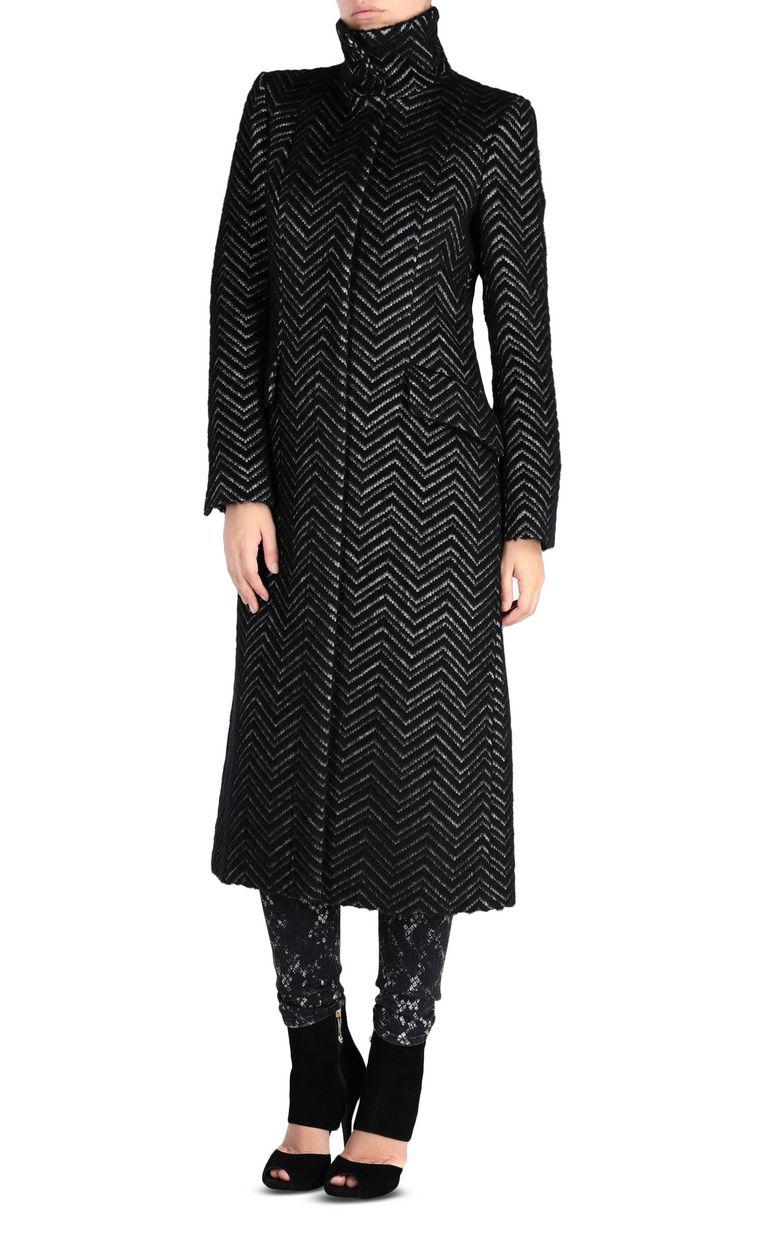 JUST CAVALLI Geometric-detail coat Coat Woman f