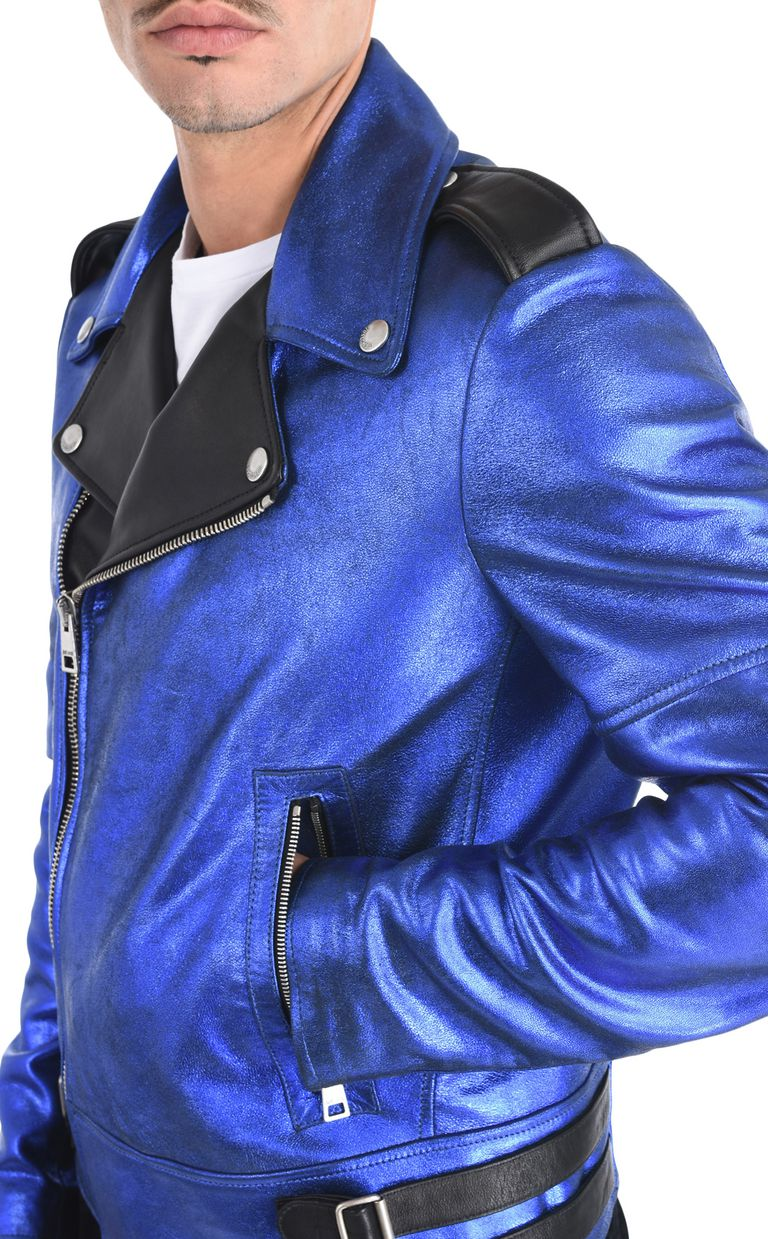 JUST CAVALLI Stardust leather jacket Leather Jacket Man e