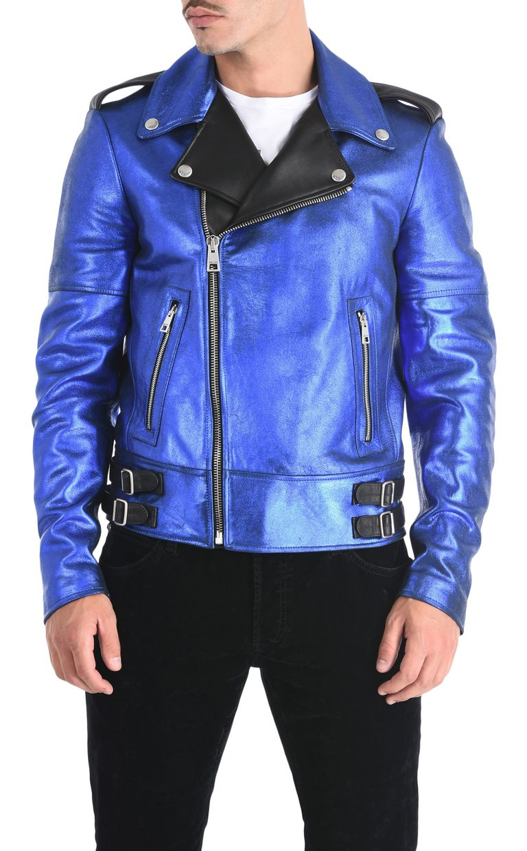 JUST CAVALLI Stardust leather jacket Leather Jacket Man f