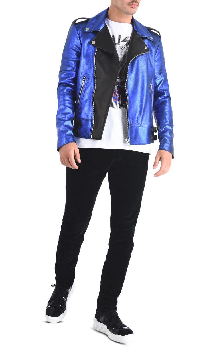 JUST CAVALLI Stardust leather jacket Leather Jacket Man r