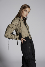 DSQUARED2 Tulle Layered Sparrowhawk Bomber Jacket Kaban Woman